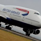 British airways plane on runway