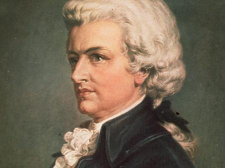 Wolfgang Amadeus Mozart most famous portrait