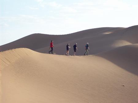 Trek Sahara - crossing dunes
