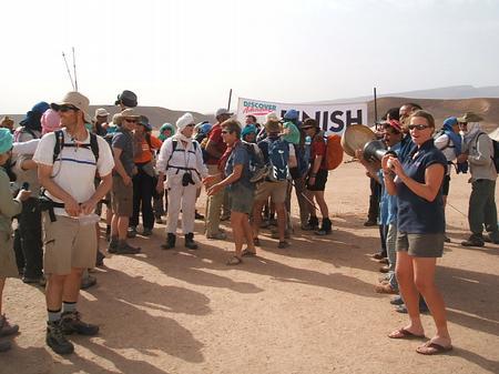 Trek Sahara - the finish line