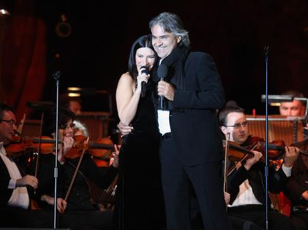 Laura Pausini and Andrea Bocelli