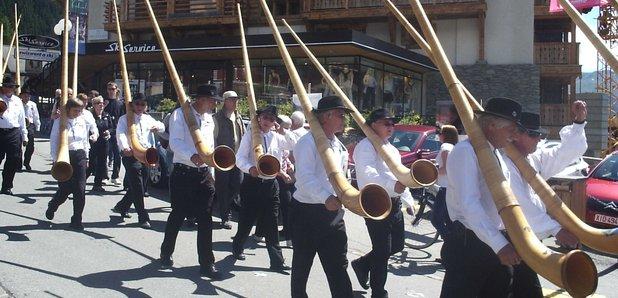 Alpine horns Verbier Festival
