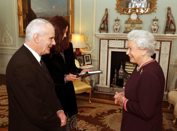Peter Maxwell Davies and Queen Elizabeth II
