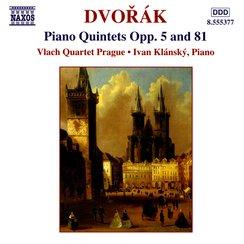 Dvorák Piano Quintets Vlach Quartet Prague with Iv