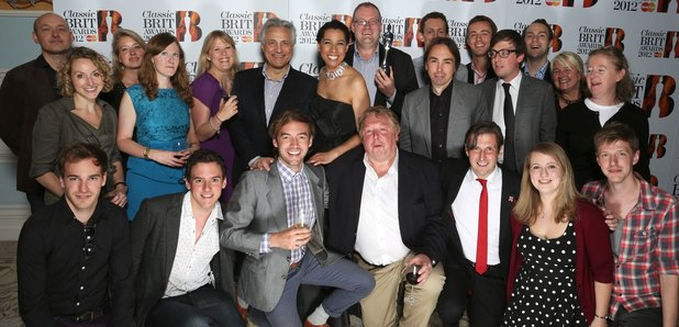 The Classic FM team at the Classic BRIT Awards