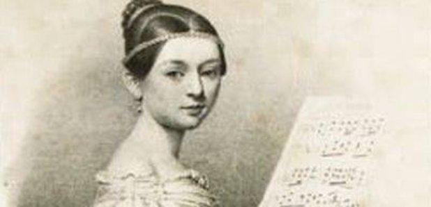 Clara Schumann at a piano