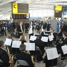 London Philharmonic playing at Heathrow airport