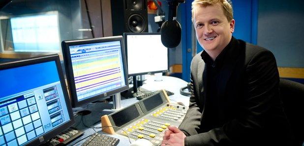 Aled Jones in the Classic FM studio