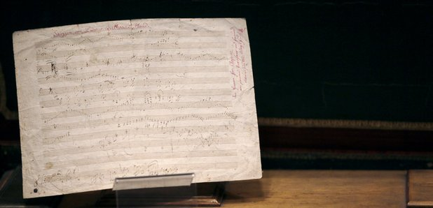 Ludwig van Beethoven handwritten partition