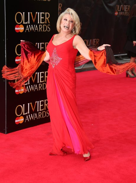 Elaine Paige arrives at the Olivier Awards 2013