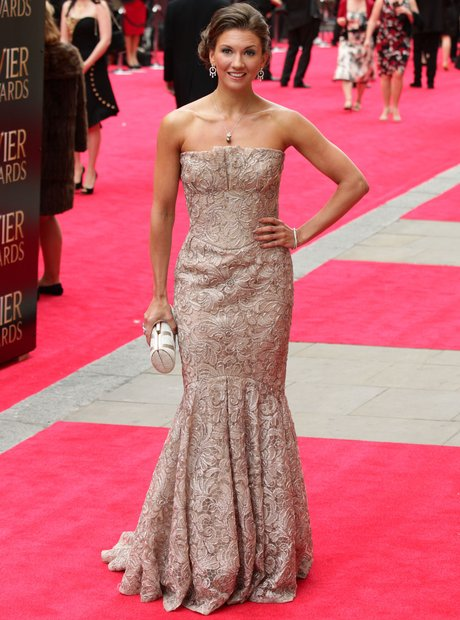 Summer Strallen arrives at the Olivier Awards 2013
