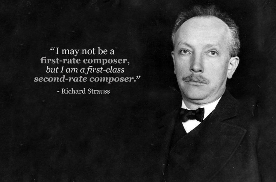 richard strauss first rate composer