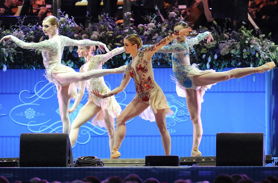 Royal Ballet dancers at the Coronation Gala Concer