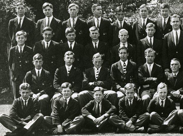 Benjamin Britten school photograph composer