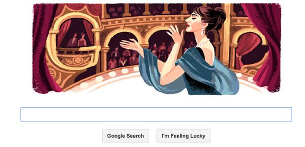 Google Doodle Maria Callas