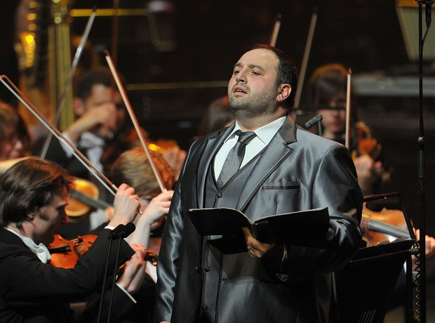 Wynne Evans at the Classic FM live in Cardiff 2014