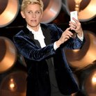 Ellen DeGeneres at the Oscars 2014 on stage