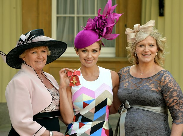 Katherine Jenkins receives her OBE: pictures