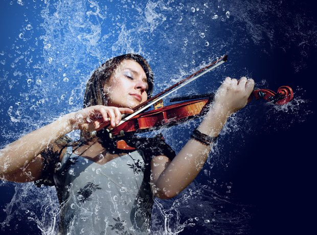Bad stock photos violin