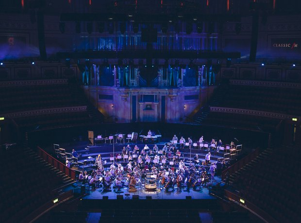 Classic FM live during rehearsals at the Royal Alb