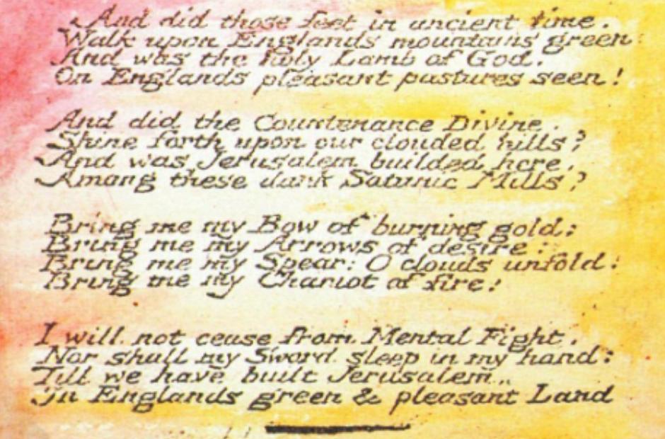 Hubert Parry Jerusalem William Blake