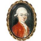 Mozart miniature portrait