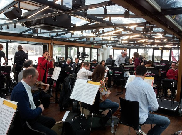 LPO on the Thames pageant