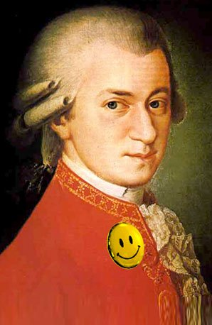 Mozart happy smiley face