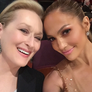J-Lo and Meryl Streep selfie