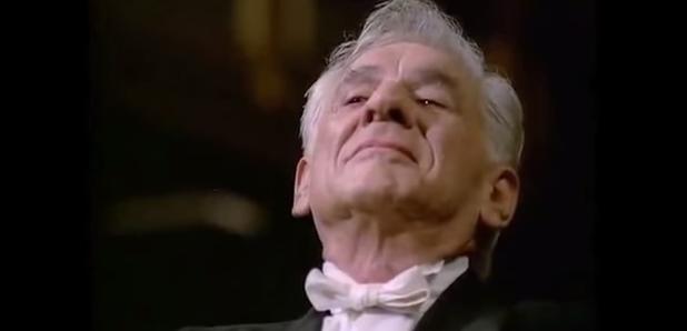 Leonard Bernstein conducts with his eyebrows