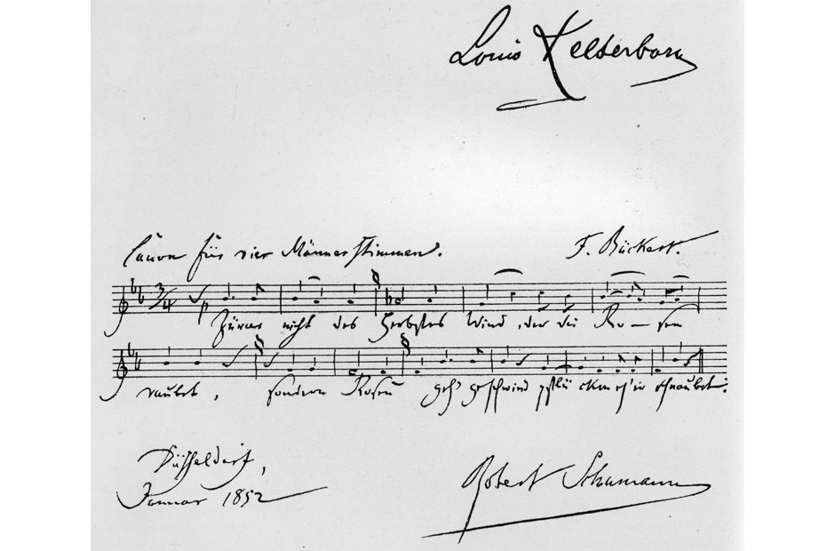 Beautiful manuscripts Schumann