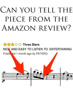 Amazon music reviews