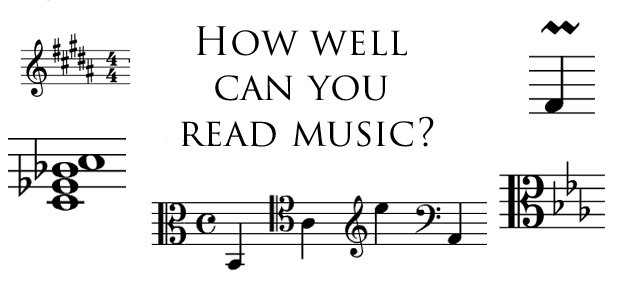 How well can you read music?