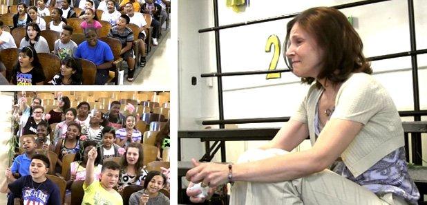 choir sing to teacher video