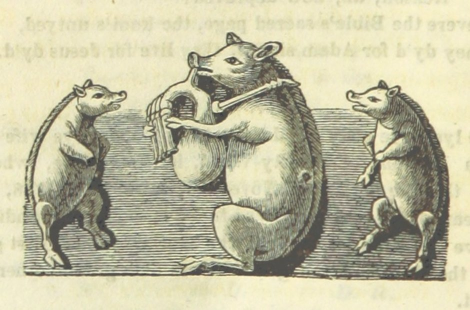British Library archive pigs wind instruments