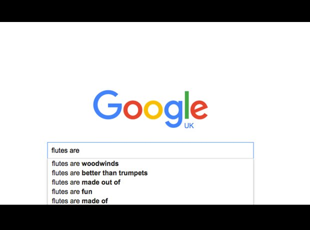 Google auto-complete instruments