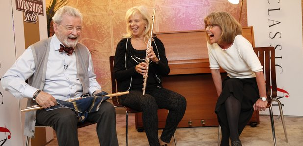 Jane Jones with Sir James Galway and Lady Jeanne G