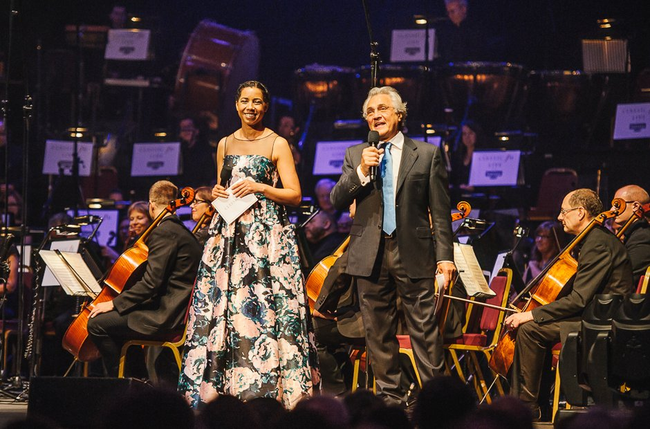 Margherita Taylor and John Suchet during Classic F