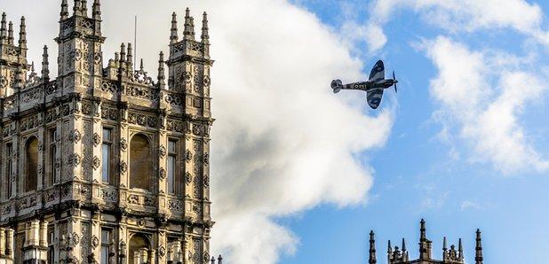 Spitfire at Highclere Castle Battle Proms