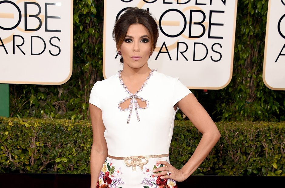 Eva Longoria at the Golden Globe Awards 2016