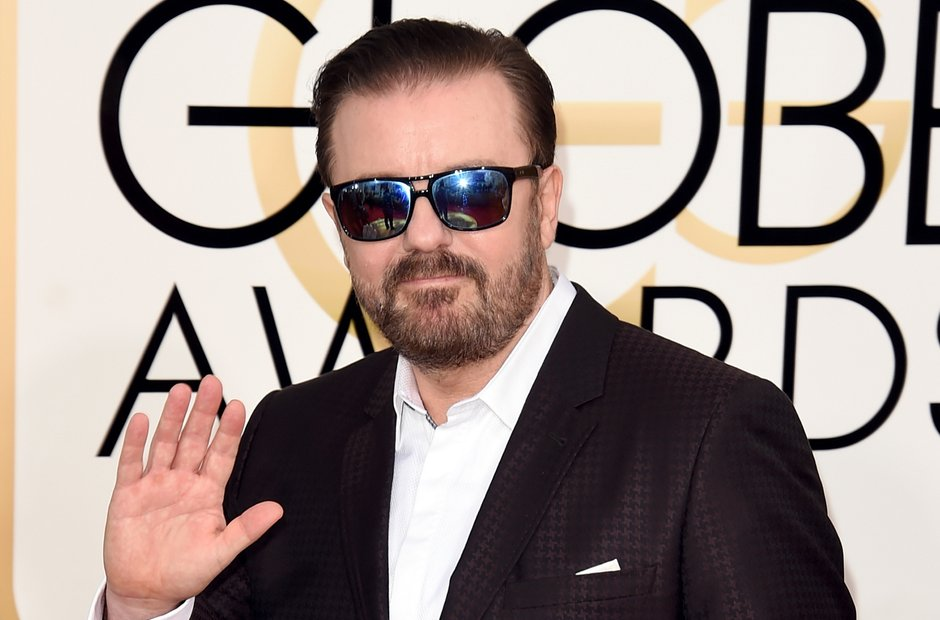 Ricky Gervais at the Golden Globe Awards 2016