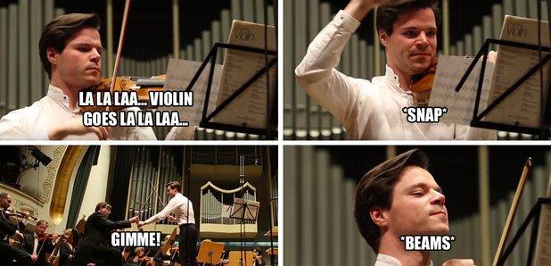 violin string snap