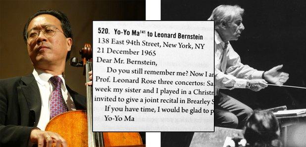 yo yo ma bernstein letter
