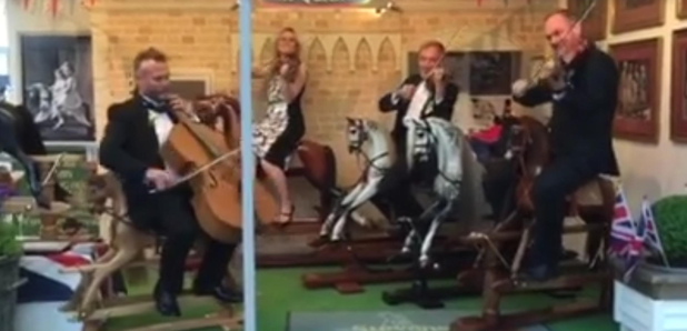 string quartet rocking horses