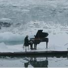 Einaudi performs on iceberg in Arctic