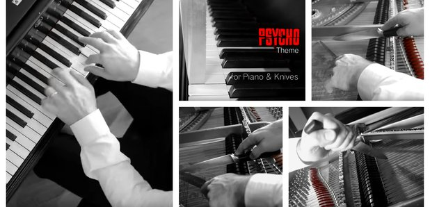 Psycho piano with knives