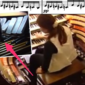 Flight of the Bumblebee played on an organ's pedal