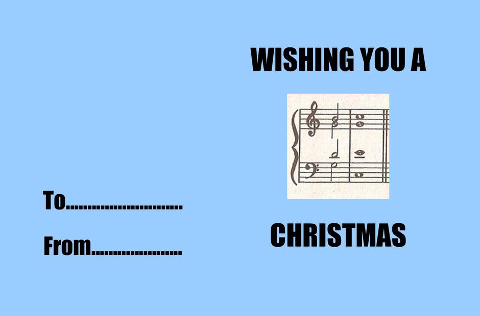 Music geek Christmas greeting cards