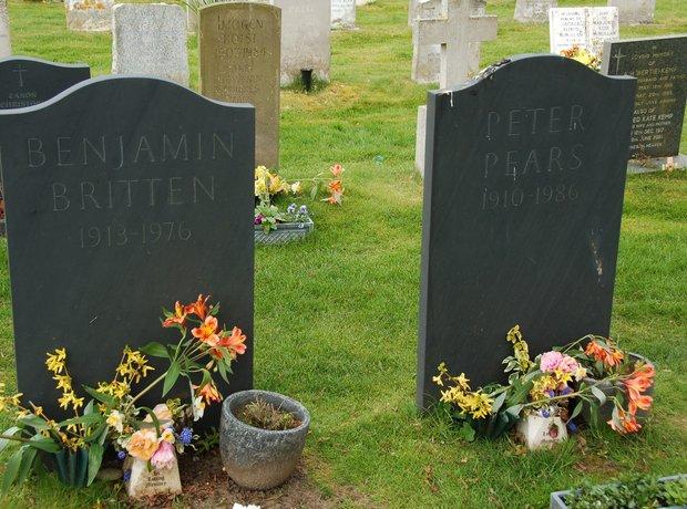 Benjamin Britten's grave